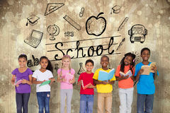 Immagine composita dei libri di lettura elementari degli allievi Fotografie Stock