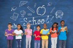 Immagine composita dei libri di lettura elementari degli allievi Immagini Stock Libere da Diritti