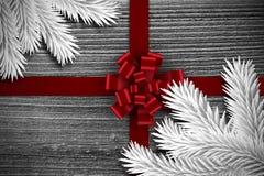 Immagine composita dei rami di albero digitalmente generati dell'abete illustrazione di stock