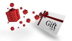 Immagine composita dei regali di Natale di volo Fotografie Stock Libere da Diritti