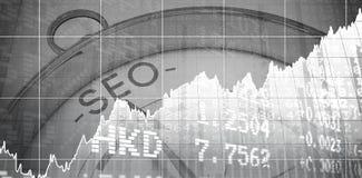 Immagine composita dei valori di borsa Fotografia Stock