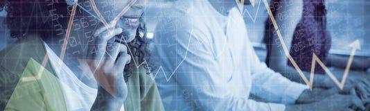 Immagine composita dei valori di borsa immagine stock libera da diritti