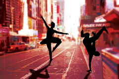 Immagine composita del ballerino fresco della rottura Immagini Stock