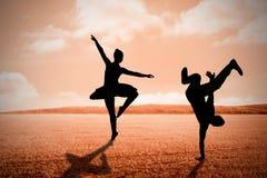 Immagine composita del ballerino fresco della rottura Immagine Stock Libera da Diritti