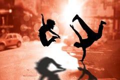 Immagine composita del ballerino fresco della rottura Immagine Stock