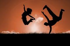 Immagine composita del ballerino fresco della rottura Fotografie Stock Libere da Diritti