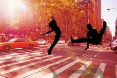 Immagine composita del ballerino fresco della rottura Fotografia Stock Libera da Diritti