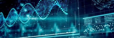 Immagine composita del diagramma dell'elica di DNA 3d Immagini Stock Libere da Diritti