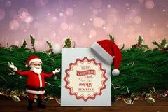Immagine composita del fumetto sveglio il Babbo Natale Fotografia Stock