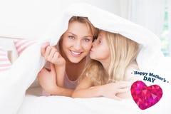 Immagine composita del giorno di madri felice Fotografia Stock