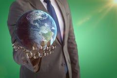 Immagine composita del globo 3d della terra Fotografie Stock Libere da Diritti