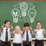 Immagine composita del grafico dell'innovazione e di idea Immagini Stock Libere da Diritti