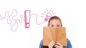 Immagine composita del grafico della lampadina con il punto esclamativo Fotografia Stock