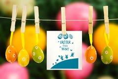 Immagine composita del grafico di caccia dell'uovo di Pasqua Fotografie Stock