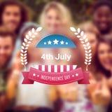 Immagine composita del grafico di festa dell'indipendenza Fotografie Stock Libere da Diritti