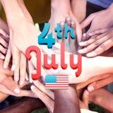 Immagine composita del grafico di festa dell'indipendenza Fotografie Stock
