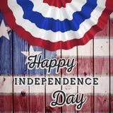 Immagine composita del grafico di festa dell'indipendenza Fotografia Stock