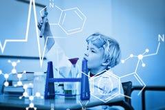 Immagine composita del grafico di scienza Fotografie Stock Libere da Diritti