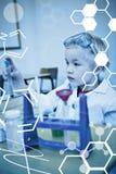 Immagine composita del grafico di scienza Immagini Stock