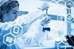 Immagine composita del grafico di scienza Fotografia Stock