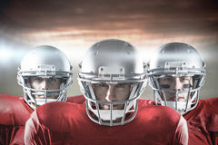 Immagine composita del gruppo di football americano Fotografia Stock