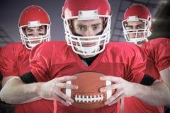 Immagine composita del gruppo di football americano Immagine Stock