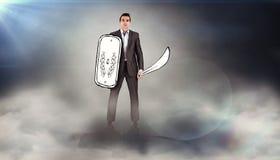 Immagine composita del guerriero corporativo Fotografie Stock