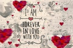 Immagine composita del messaggio dei biglietti di S. Valentino Fotografia Stock