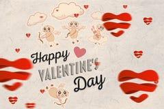 Immagine composita del messaggio dei biglietti di S. Valentino Fotografie Stock