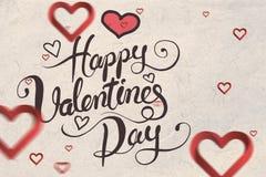 Immagine composita del messaggio dei biglietti di S. Valentino Immagine Stock Libera da Diritti