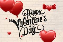 Immagine composita del messaggio dei biglietti di S. Valentino Fotografia Stock Libera da Diritti