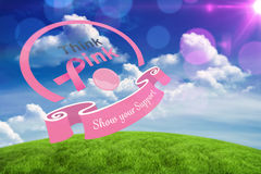 Immagine composita del messaggio di consapevolezza del cancro al seno Fotografia Stock