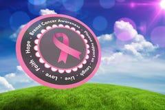 Immagine composita del messaggio di consapevolezza del cancro al seno Fotografia Stock Libera da Diritti