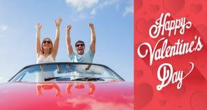 Immagine composita del messaggio sveglio dei biglietti di S. Valentino Fotografia Stock Libera da Diritti