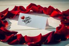 Immagine composita del messaggio sveglio dei biglietti di S. Valentino Fotografia Stock