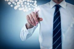 Immagine composita del midsection dell'uomo che indica 3d Fotografie Stock Libere da Diritti