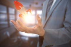 Immagine composita del midsection dell'uomo d'affari elegante 3d Immagini Stock