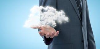 Immagine composita del midsection dell'uomo d'affari specializzato che offre 3d Immagine Stock