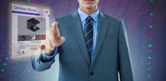 Immagine composita del midsection di indicare ben vestito dell'uomo d'affari Immagini Stock