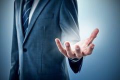Immagine composita del midsection di indicazione dell'uomo d'affari Fotografia Stock Libera da Diritti