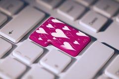 Immagine composita del modello di giorno di biglietti di S. Valentino Fotografia Stock Libera da Diritti