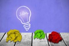 Immagine composita del primo piano di carta sgualcita 3d Immagine Stock