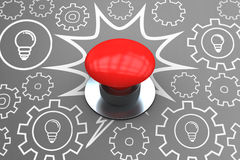 Immagine composita del pulsante rosso digitalmente generato royalty illustrazione gratis