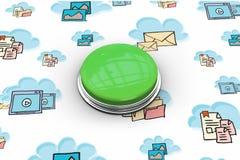 Immagine composita del pulsante verde digitalmente generato illustrazione vettoriale