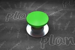 Immagine composita del pulsante verde digitalmente generato royalty illustrazione gratis