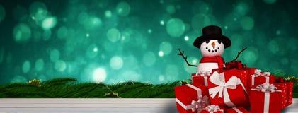 Immagine composita del pupazzo di neve Fotografia Stock Libera da Diritti