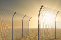 Immagine composita del recinto di chainlink piegato 3d Fotografie Stock Libere da Diritti