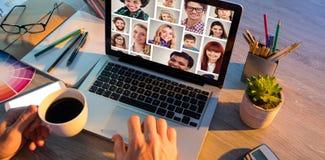 Immagine composita del ritratto 4x4 del collage della gente Fotografia Stock