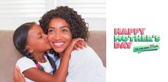 Immagine composita del saluto di giorno di madri Fotografia Stock