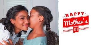 Immagine composita del saluto di giorno di madri Fotografie Stock Libere da Diritti